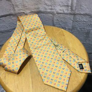 Paul Stuart Accessories - Paul Stuart Sea Shells Print 100% English Silk Tie